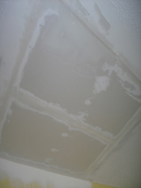 Repaired Drywall Ceiling